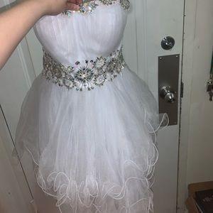 White puffy dress